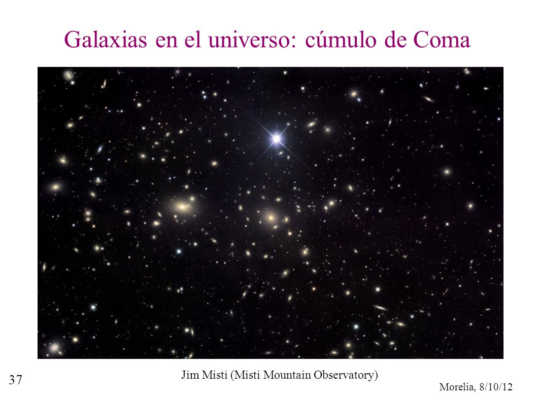 Galaxias en el universo: cúmulo de Coma