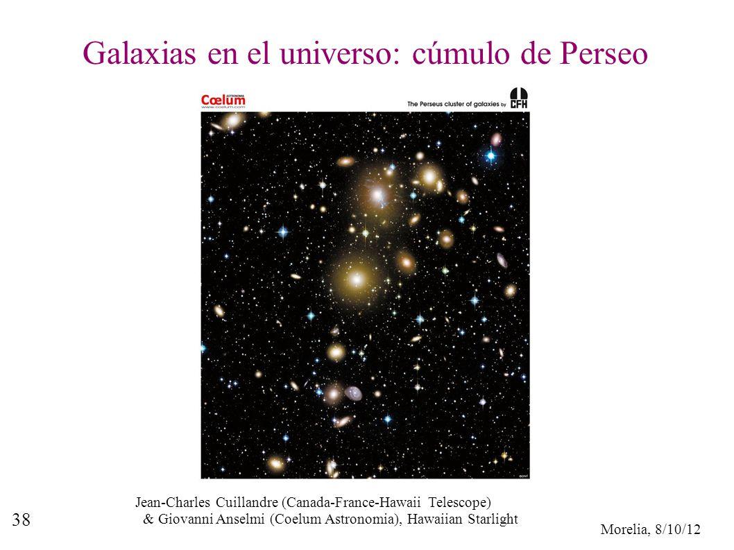 Galaxias en el universo: cúmulo de Perseo