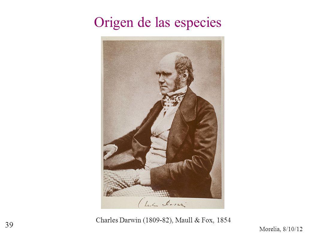 Origen de las especies Charles Darwin (1809-82), Maull & Fox, 1854