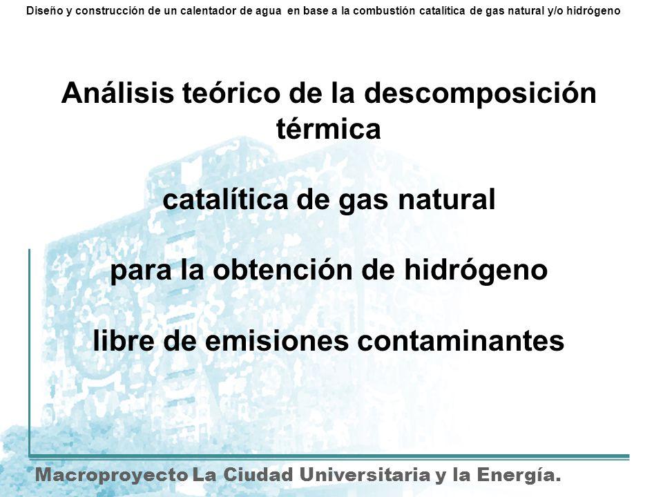 Análisis teórico de la descomposición térmica