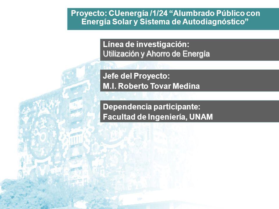 Proyecto: CUenergía /1/24 Alumbrado Público con Energía Solar y Sistema de Autodiagnóstico