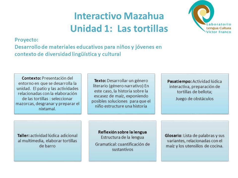 Interactivo Mazahua Unidad 1: Las tortillas