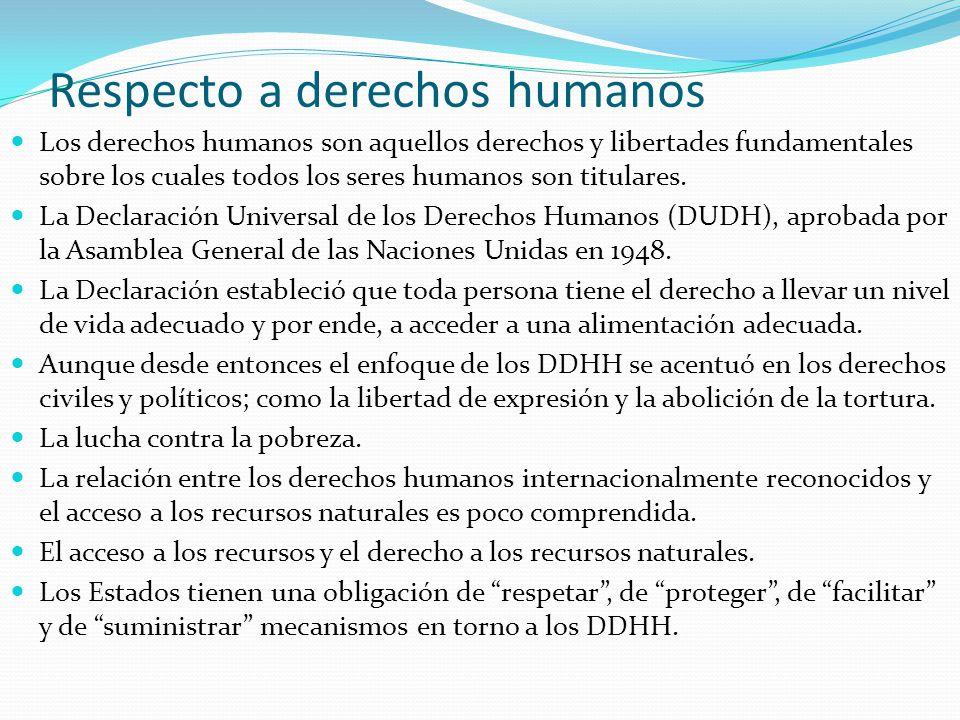 Respecto a derechos humanos