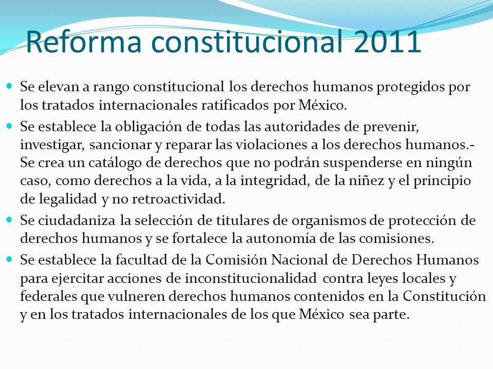 Reforma constitucional 2011