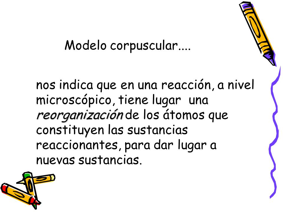 Modelo corpuscular....