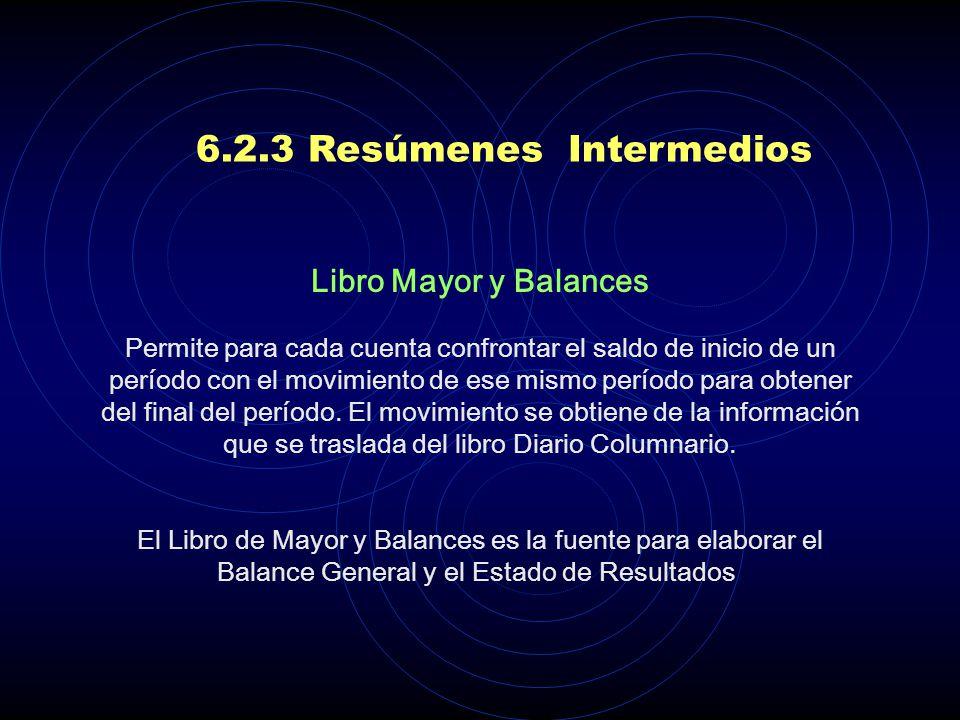 6.2.3 Resúmenes Intermedios