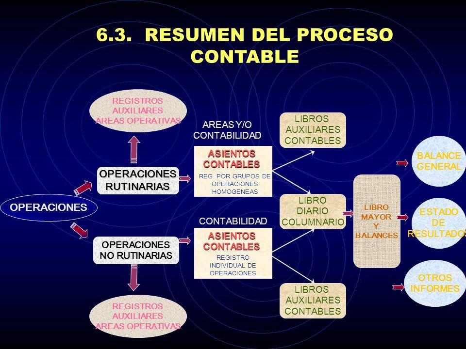 6.3. RESUMEN DEL PROCESO CONTABLE