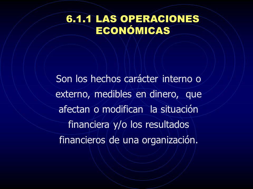 6.1.1 LAS OPERACIONES ECONÓMICAS