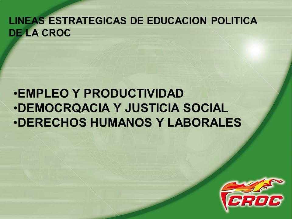 1.- lineas estrategicas de politica educativa en la CROC