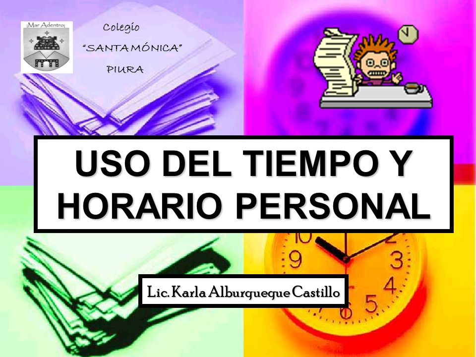 USO DEL TIEMPO Y HORARIO PERSONAL