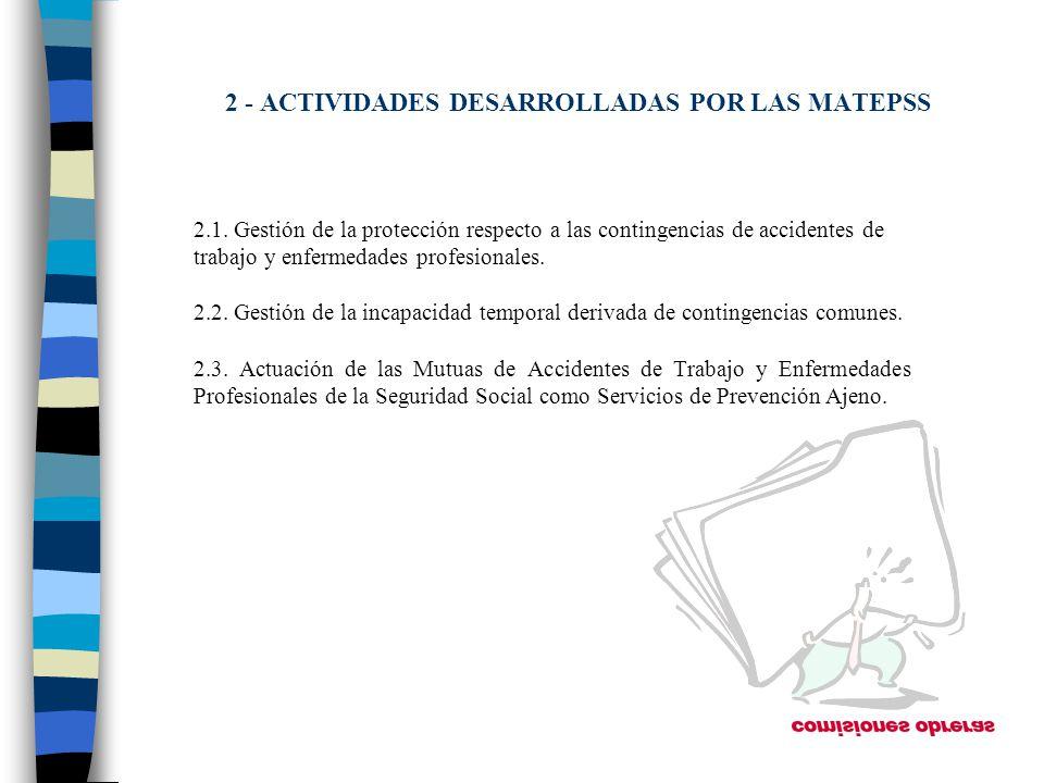 2 - ACTIVIDADES DESARROLLADAS POR LAS MATEPSS