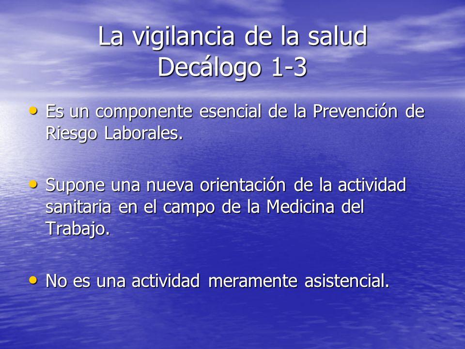 La vigilancia de la salud Decálogo 1-3
