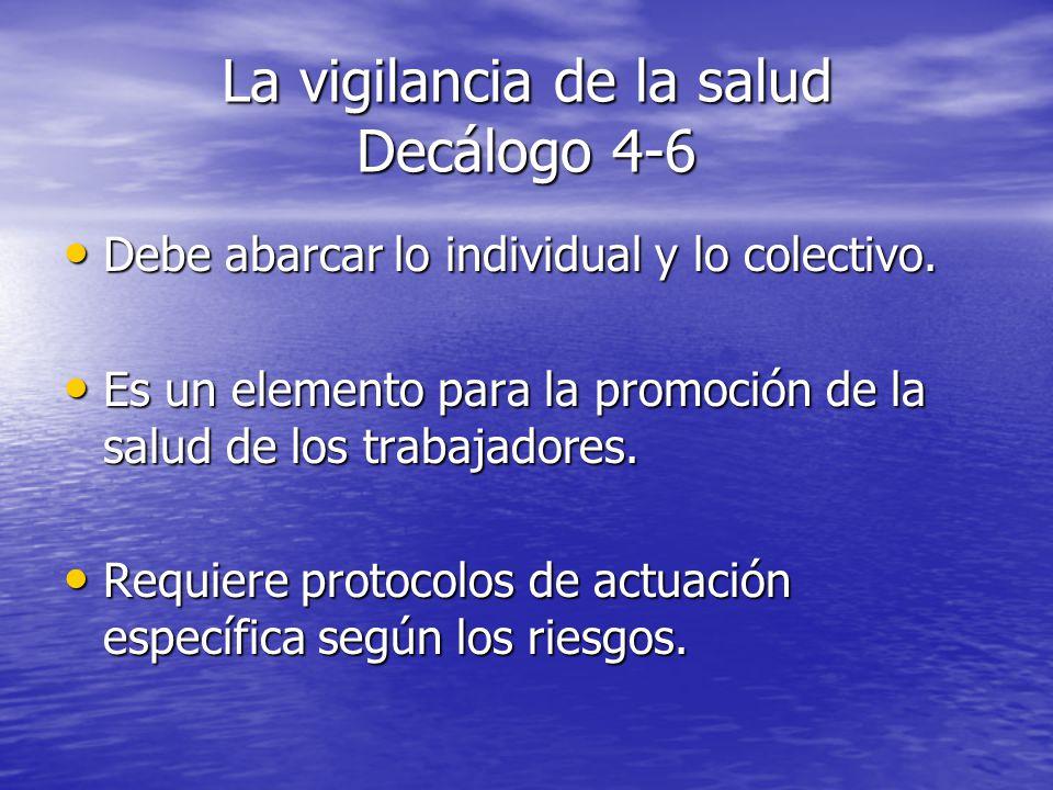 La vigilancia de la salud Decálogo 4-6