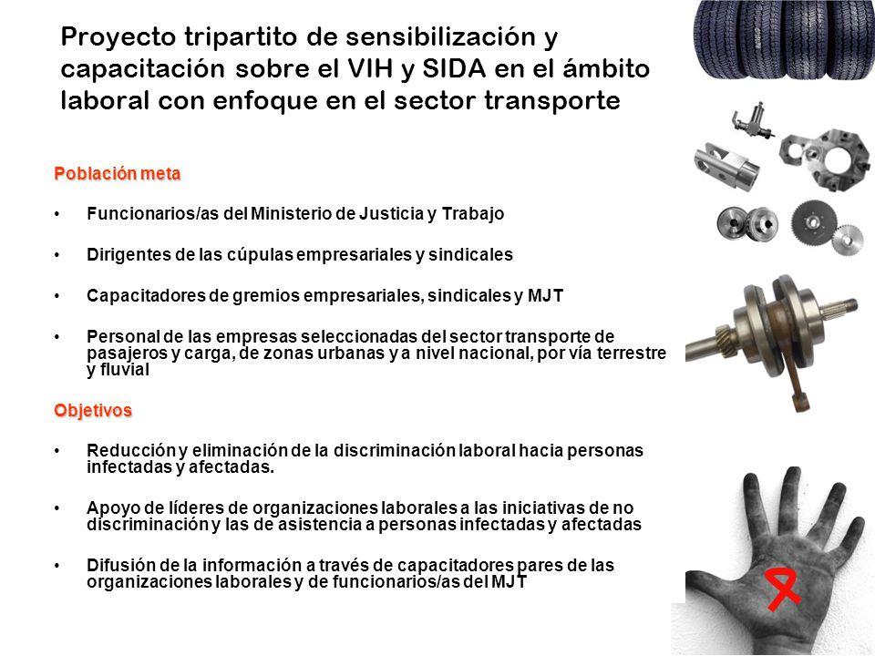 Proyecto tripartito de sensibilización y capacitación sobre el VIH y SIDA en el ámbito laboral con enfoque en el sector transporte