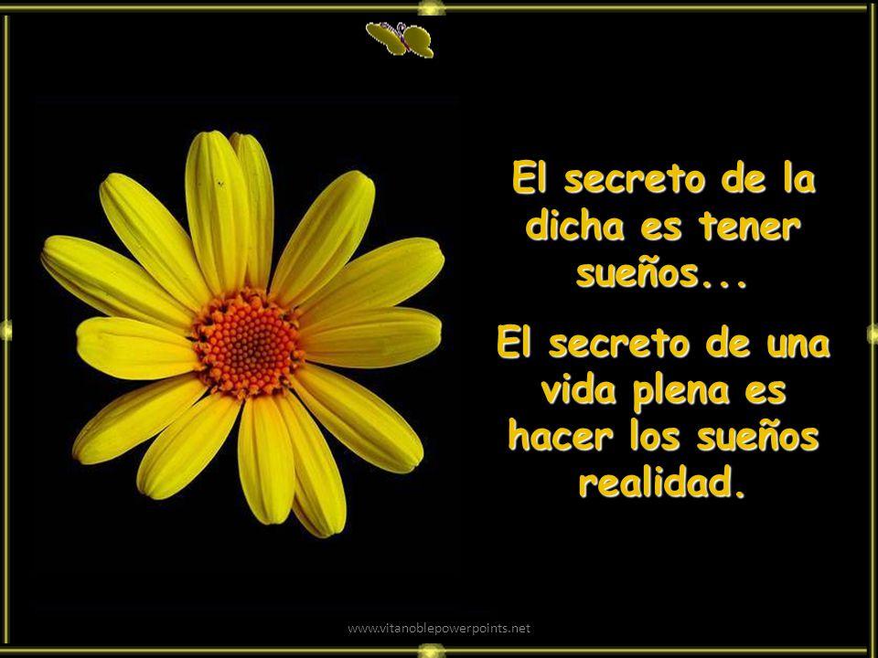 El secreto de la dicha es tener sueños...