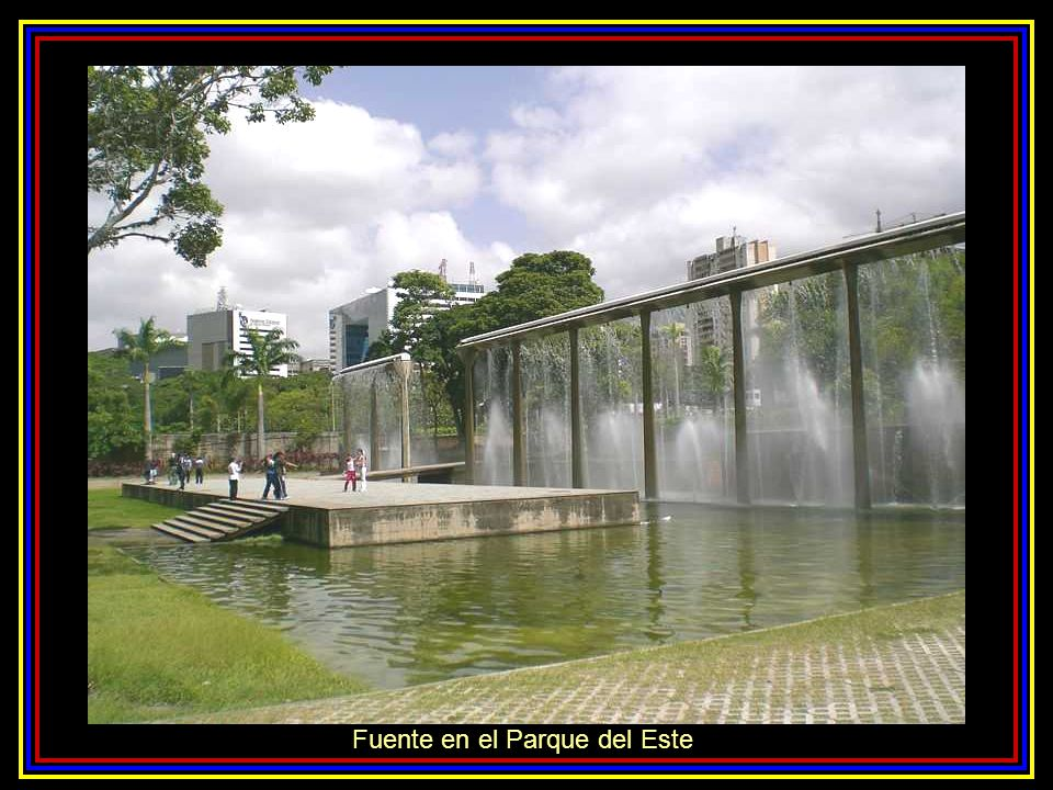 Fuente en el Parque del Este