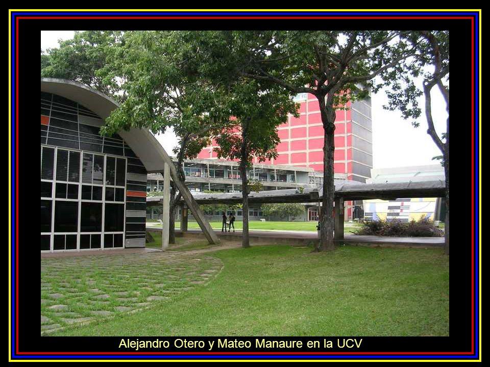 Alejandro Otero y Mateo Manaure en la UCV
