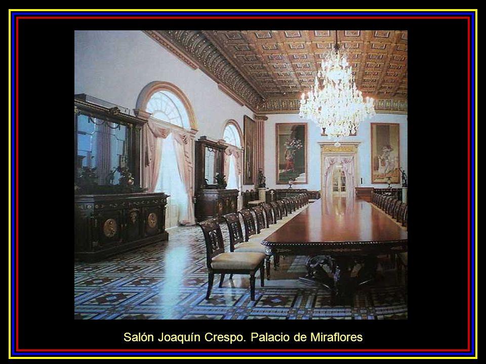 Salón Joaquín Crespo. Palacio de Miraflores