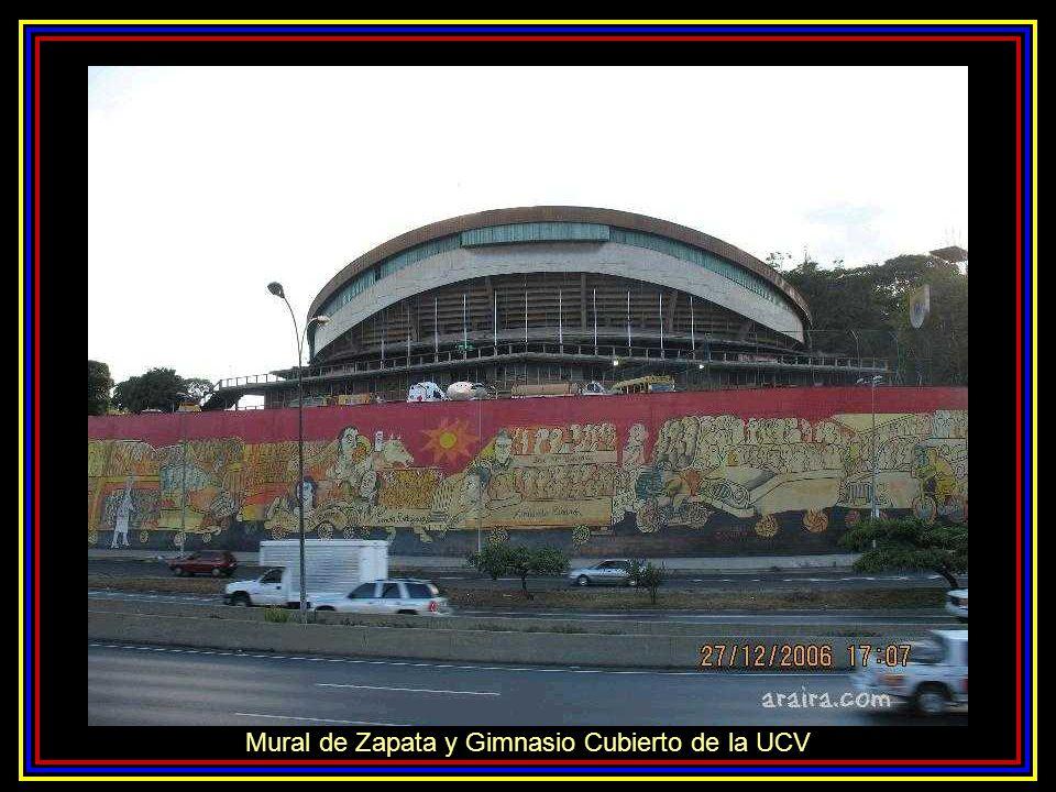 Mural de Zapata y Gimnasio Cubierto de la UCV