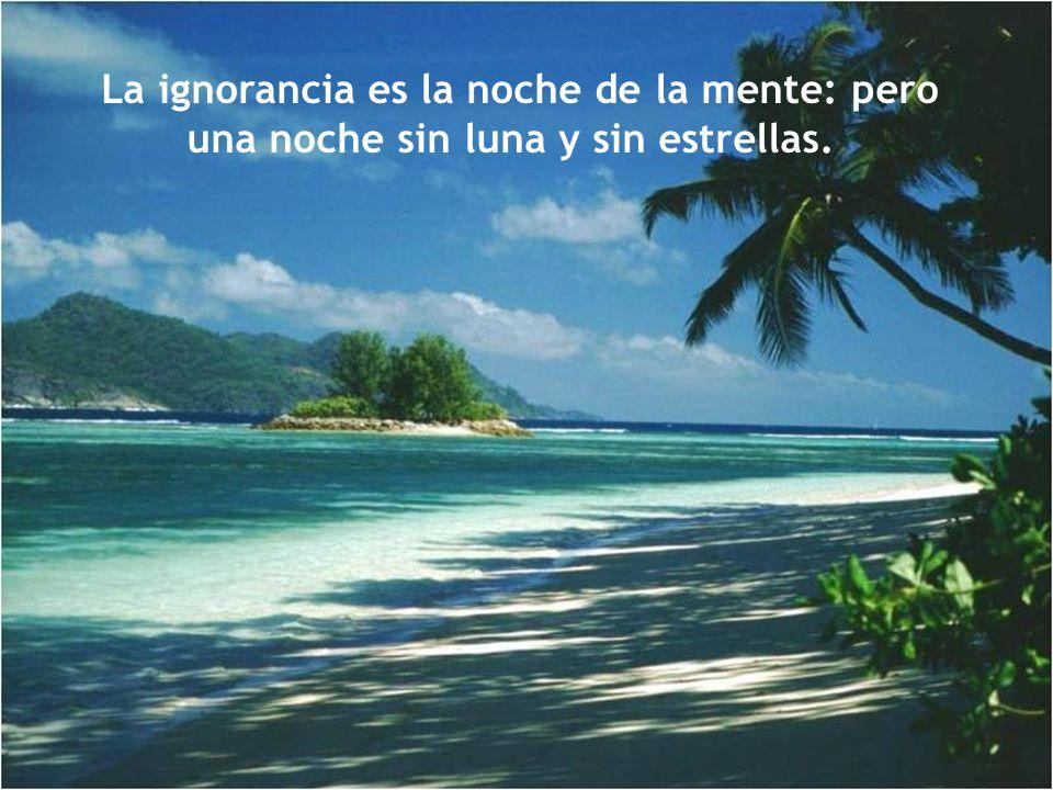La ignorancia es la noche de la mente: pero