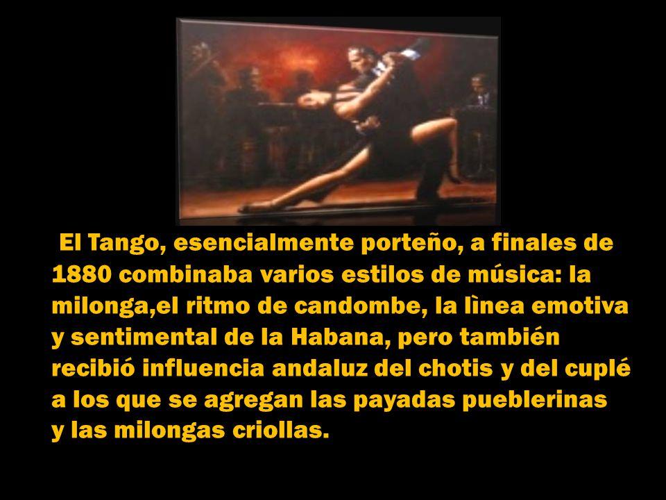 El Tango, esencialmente porteño, a finales de