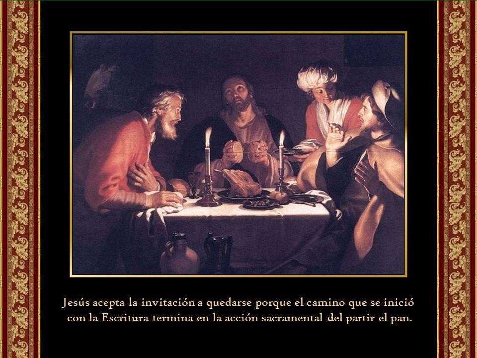Jesús acepta la invitación a quedarse porque el camino que se inició