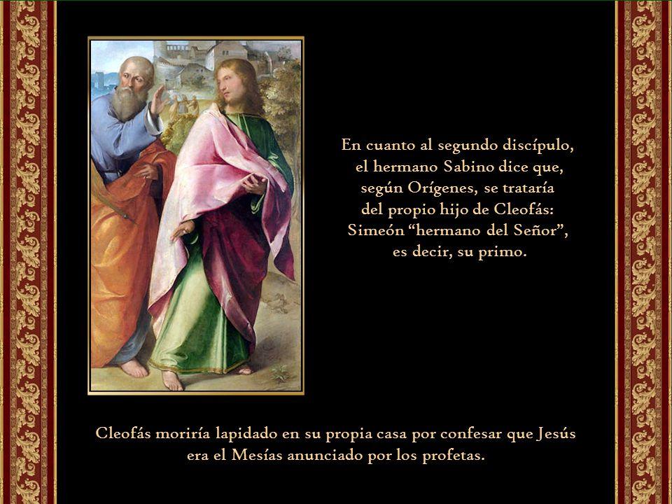 En cuanto al segundo discípulo, el hermano Sabino dice que,