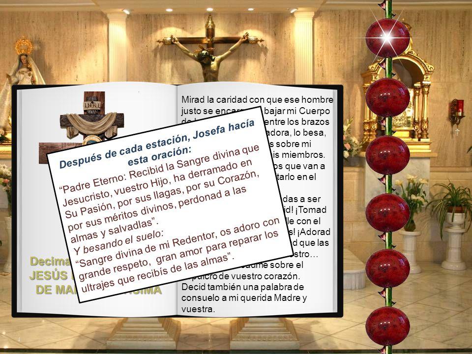 Decimatercera Estación: JESÚS EN LOS BRAZOS DE MARÍA SANTÍSIMA