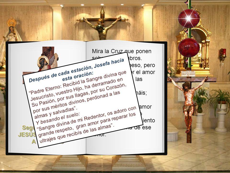 Segunda Estación: JESÚS CON LA CRUZ A CUESTAS