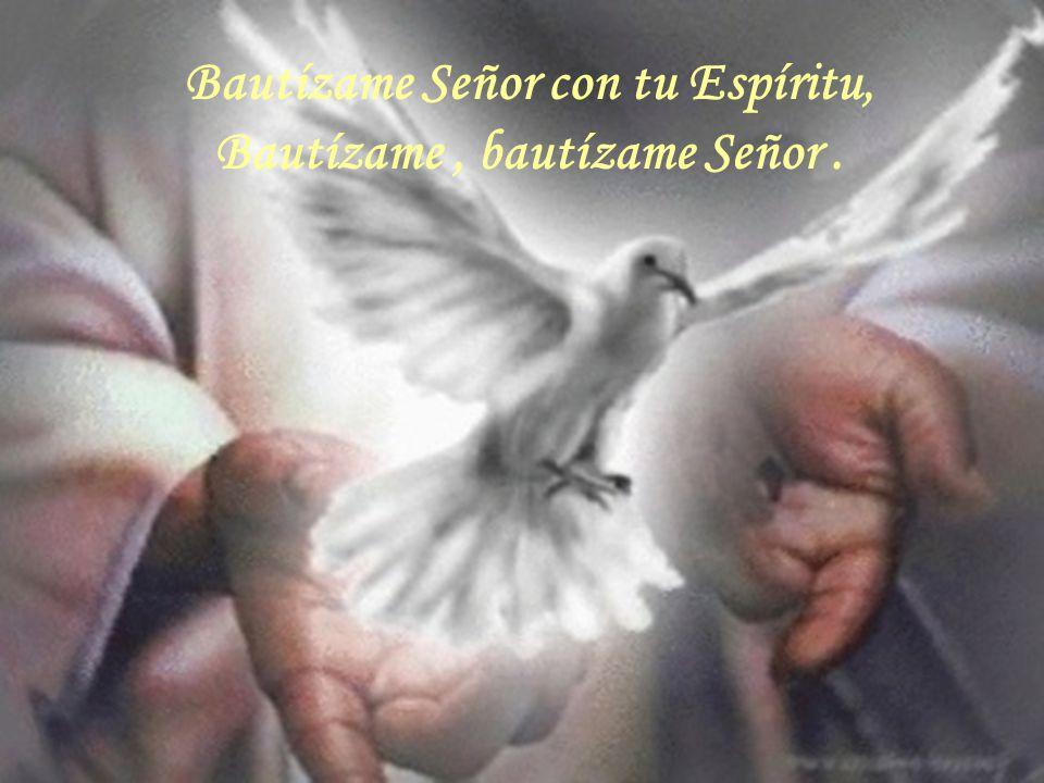 Bautízame Señor con tu Espíritu, Bautízame , bautízame Señor .