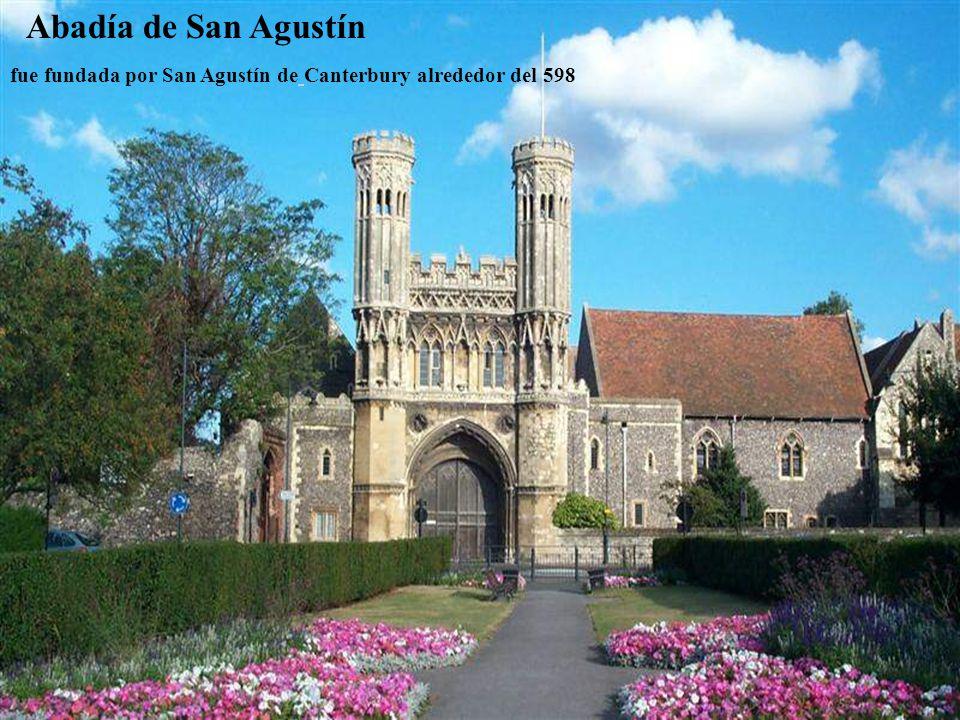 Abadía de San Agustín fue fundada por San Agustín de Canterbury alrededor del 598