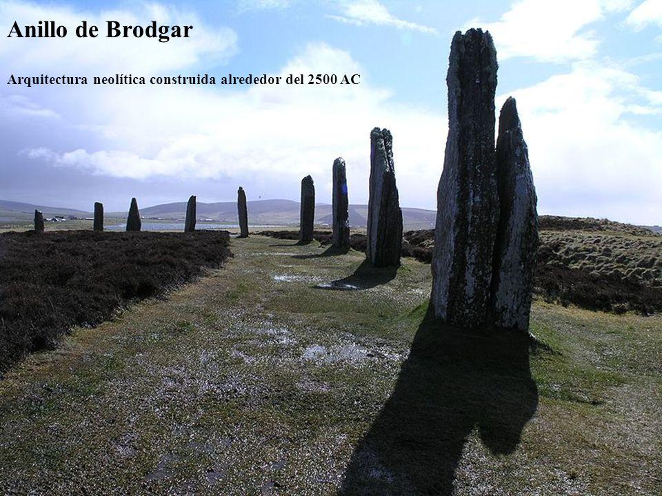Anillo de Brodgar Arquitectura neolítica construida alrededor del 2500 AC