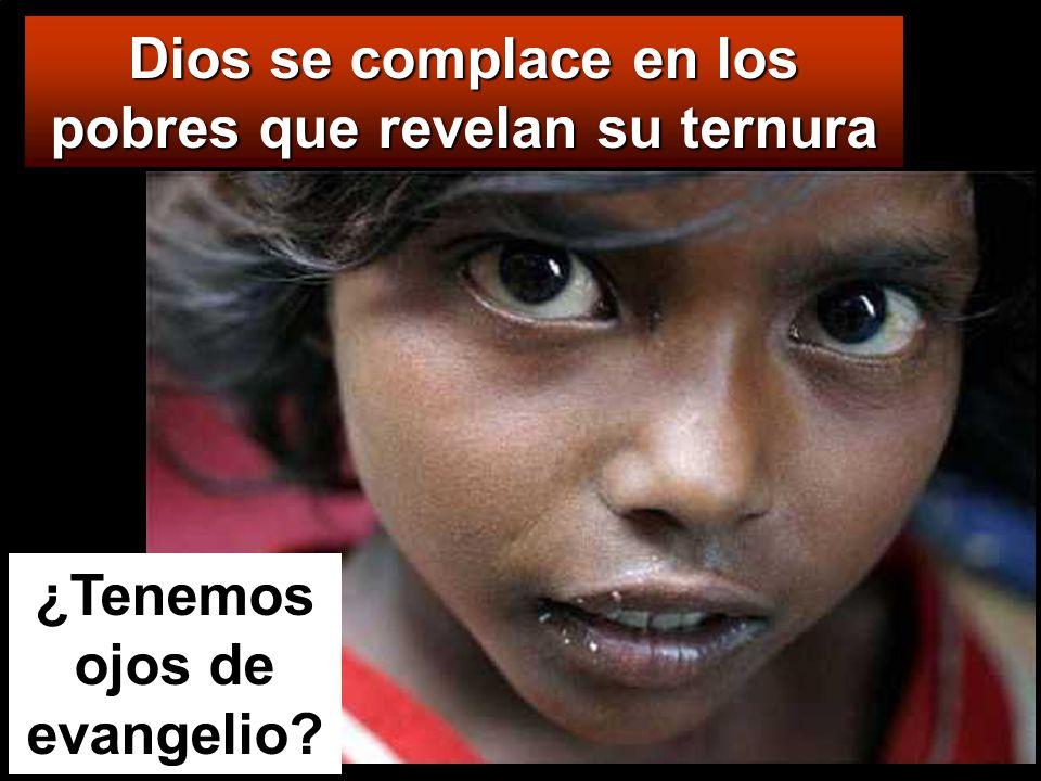Dios se complace en los pobres que revelan su ternura