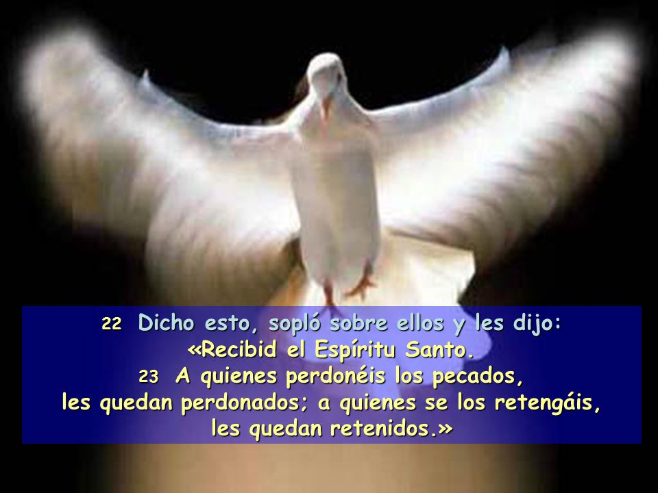 «Recibid el Espíritu Santo.