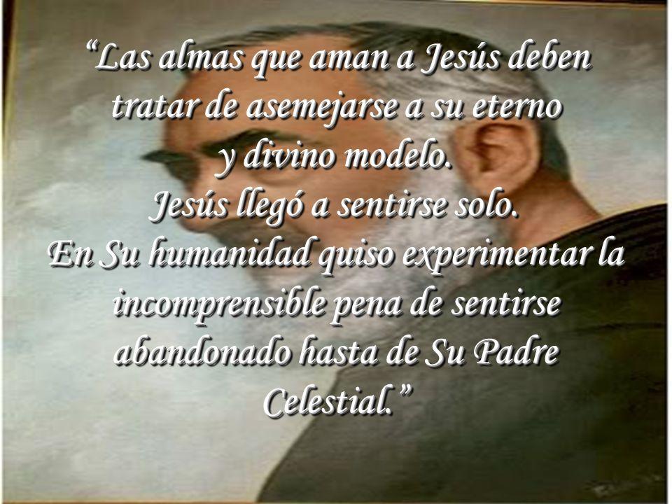 Las almas que aman a Jesús deben tratar de asemejarse a su eterno