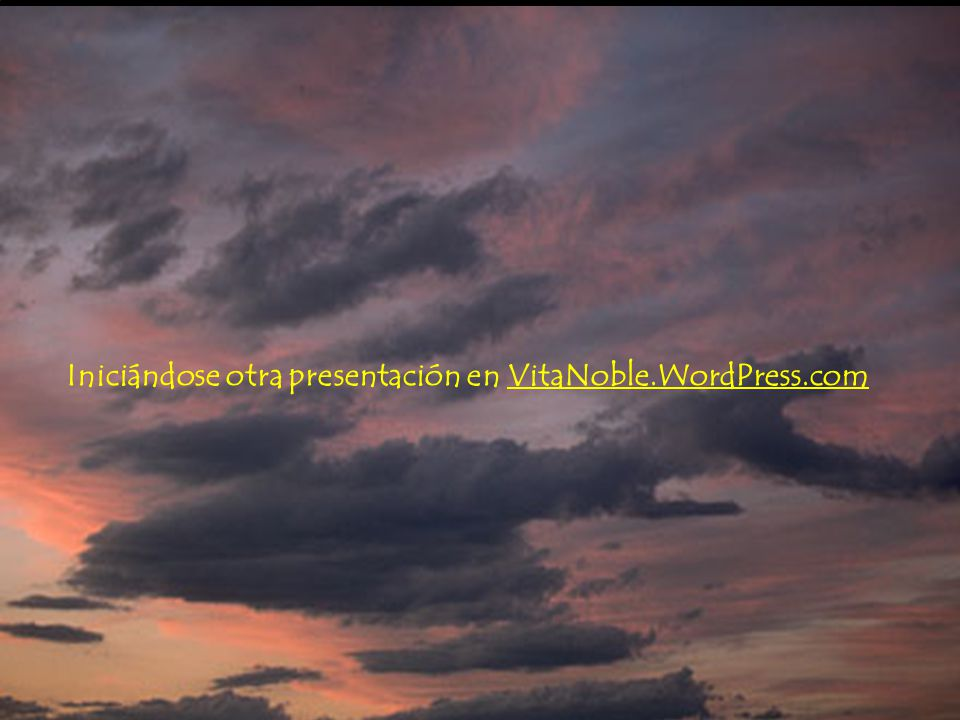 Iniciándose otra presentación en VitaNoble.WordPress.com