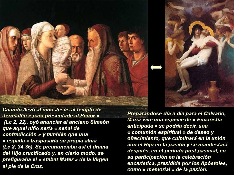 Cuando llevó al niño Jesús al templo de Jerusalén « para presentarle al Señor »