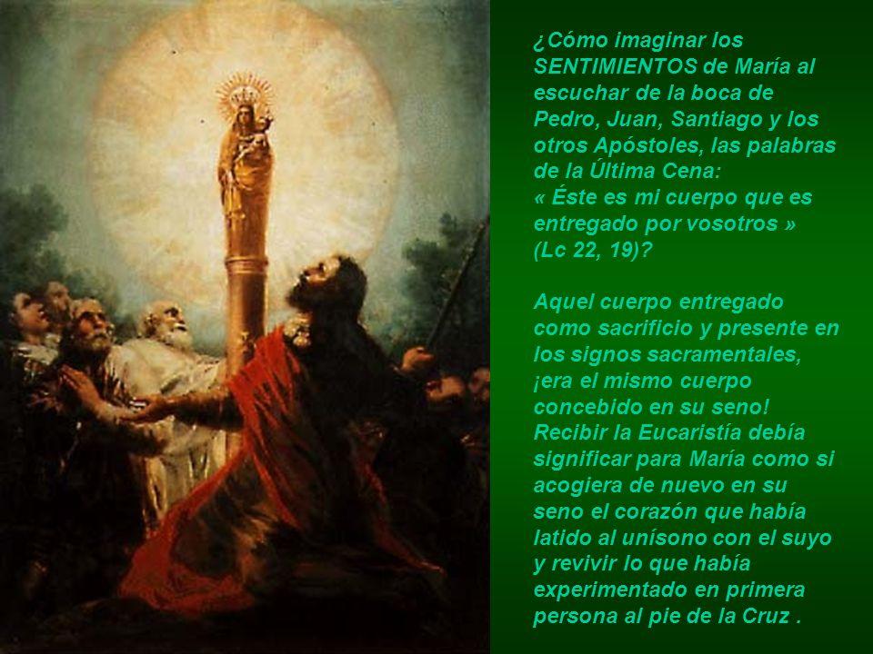 ¿Cómo imaginar los SENTIMIENTOS de María al escuchar de la boca de Pedro, Juan, Santiago y los otros Apóstoles, las palabras de la Última Cena: