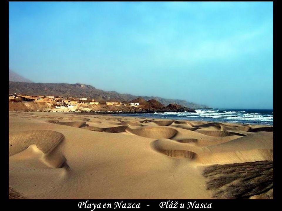 Playa en Nazca - Pláž u Nasca