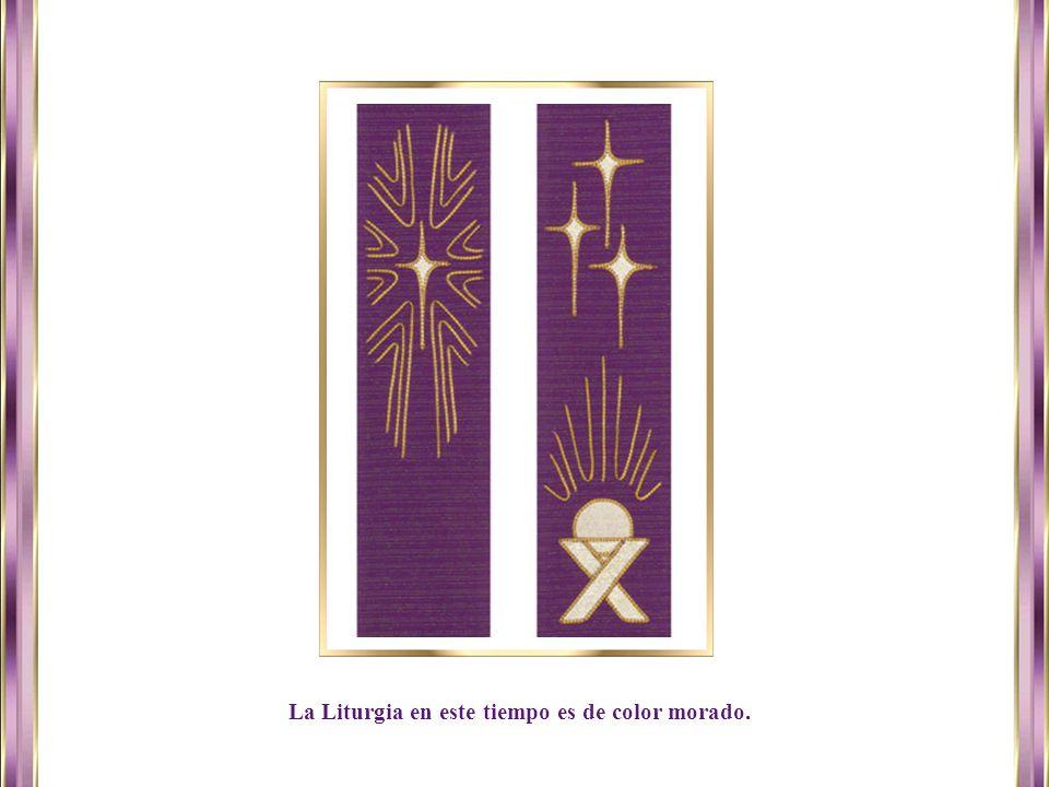 La Liturgia en este tiempo es de color morado.