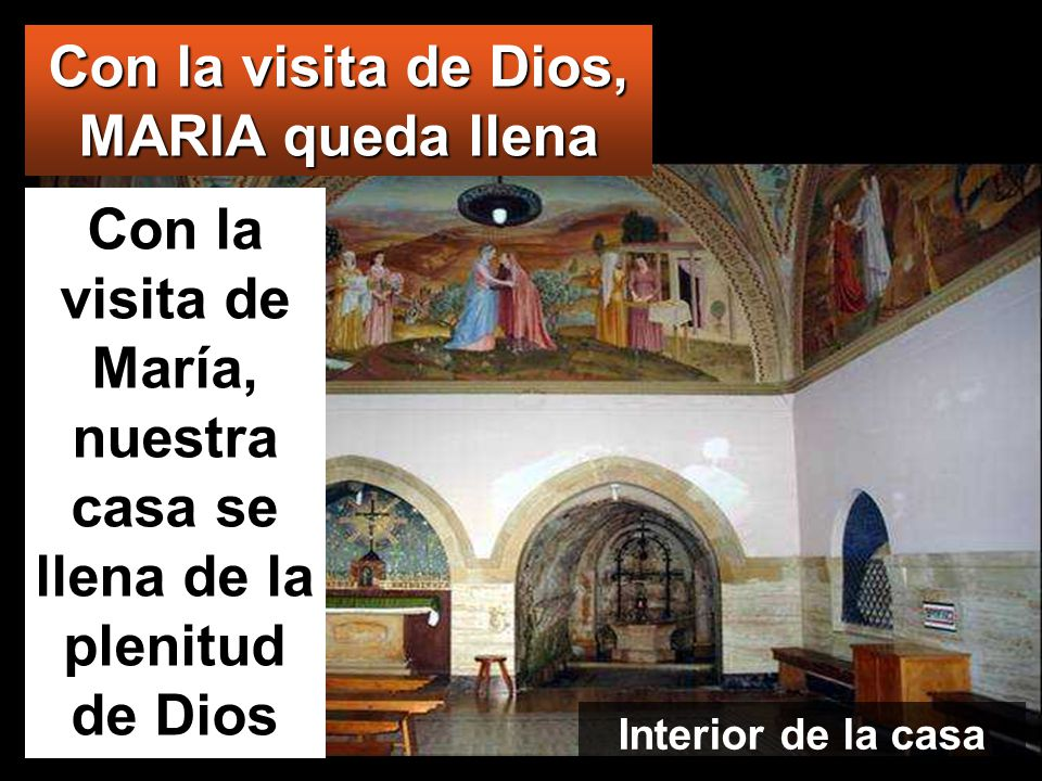 Con la visita de Dios, MARIA queda llena