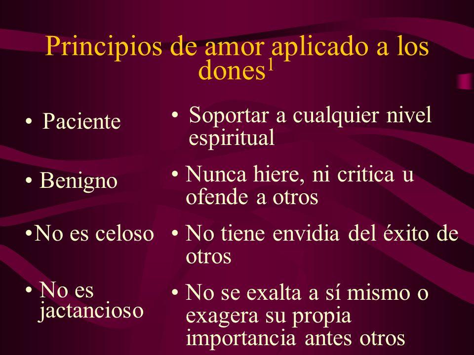 Principios de amor aplicado a los dones1