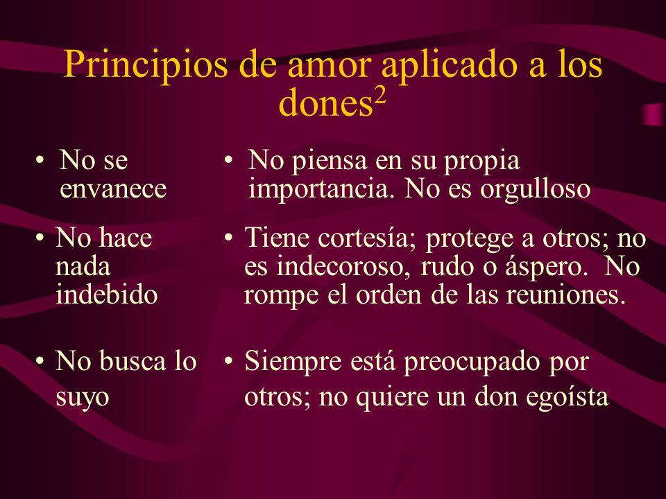 Principios de amor aplicado a los dones2
