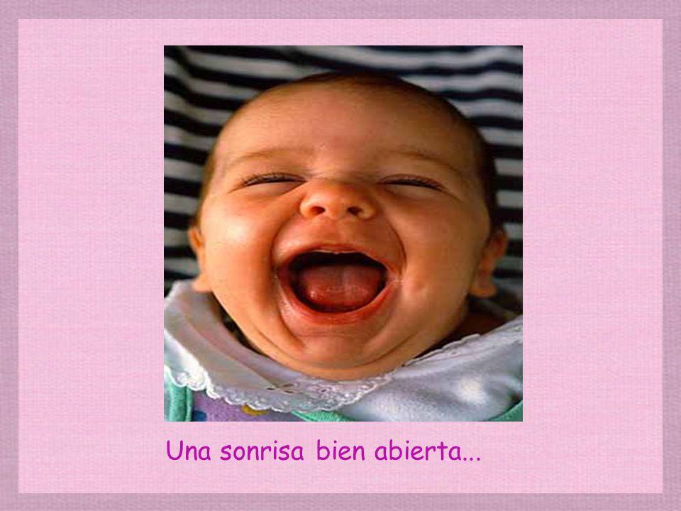 Una sonrisa bien abierta...