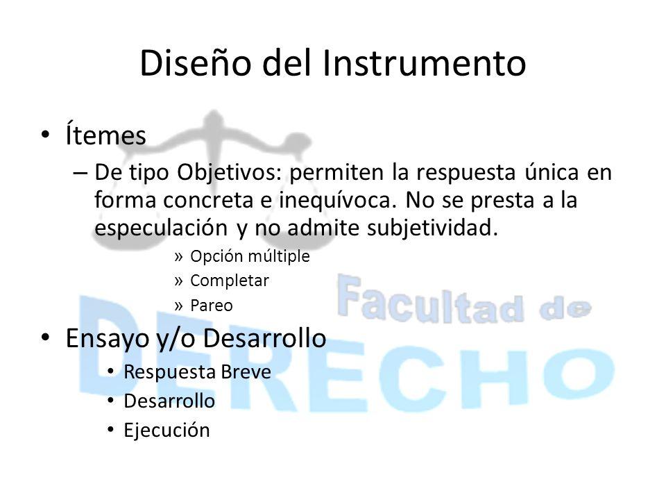 Diseño del Instrumento