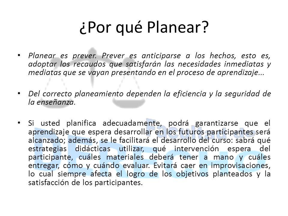 ¿Por qué Planear
