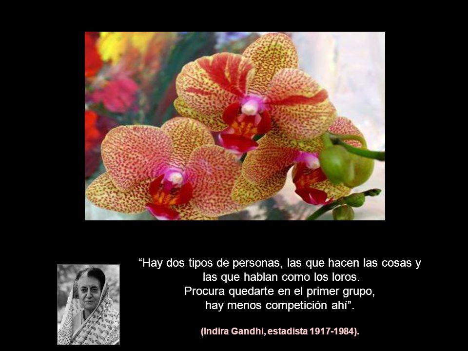 (Indira Gandhi, estadista 1917-1984).