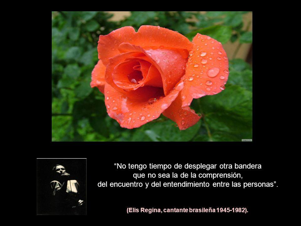 (Elis Regina, cantante brasileña 1945-1982).
