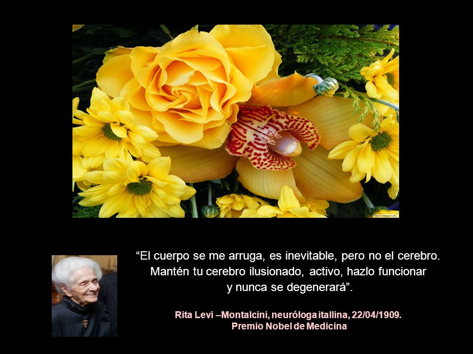 Rita Levi –Montalcini, neuróloga itallina, 22/04/1909.