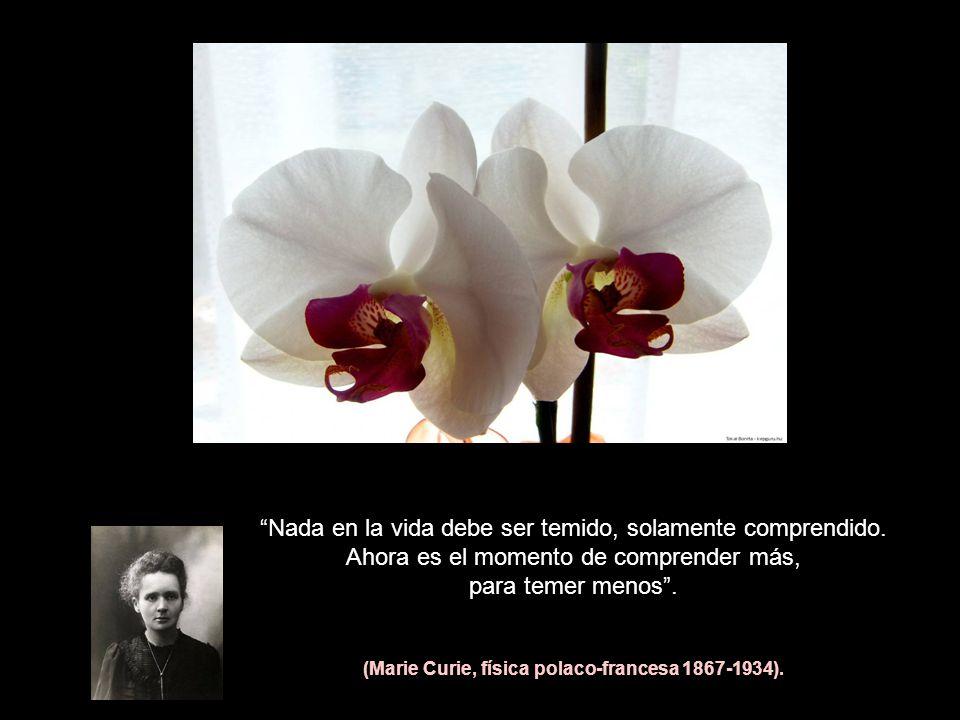 (Marie Curie, física polaco-francesa 1867-1934).